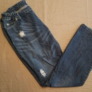 Liz Lange Womens Maternity jeans Size 4 distressed